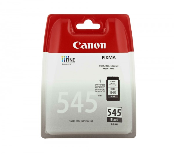 CANON PG-545 Tinte schwarz Standardkapazität 8ml 180 Seiten 1-pack blister mit Alarm