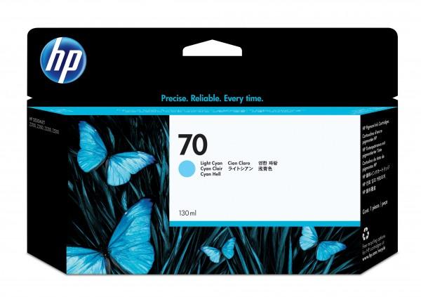 HP 70 Original Tinte hell cyan Standardkapazität 130ml