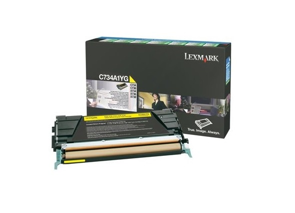 LEXMARK C734A1YG Toner gelb Standardkapazität 6000 Seiten