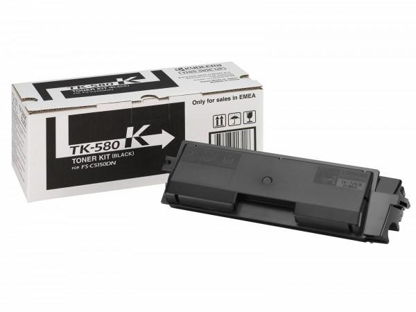 KYOCERA TK-580K Toner schwarz inkl. Resttonerbehälter für 3.500 Seiten gem. ISO/IEC 19798