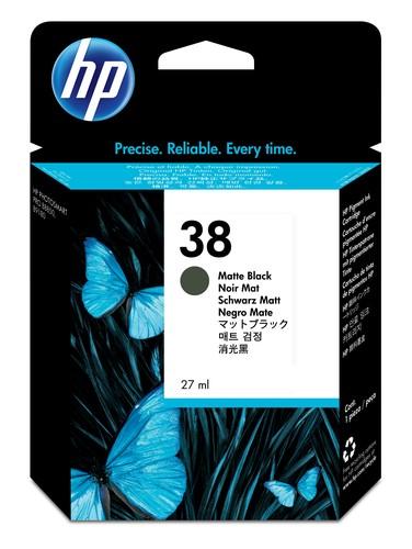HP 38 Original Tinte matt schwarz Standardkapazität 27ml 3.200 Seiten 1er-Pack